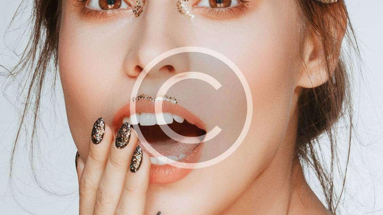 Embellished Dark Nail Art